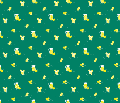 Emerald Citronade fabric by siya on Spoonflower - custom fabric