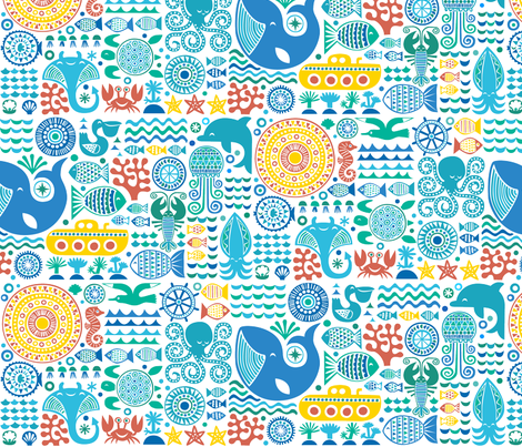 under the sea 2013 fabric by dennisthebadger on Spoonflower - custom fabric