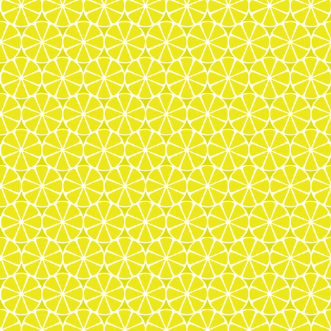 Citron Slices fabric by siya on Spoonflower - custom fabric