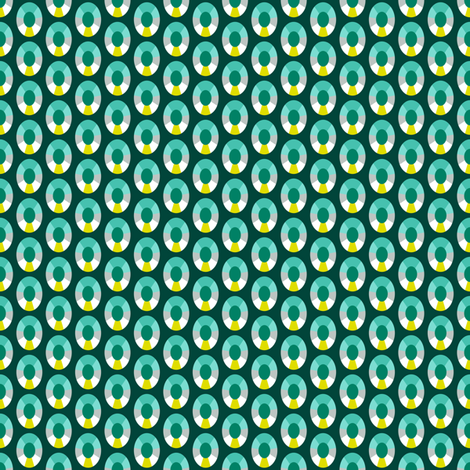 Emerald Dots fabric by siya on Spoonflower - custom fabric