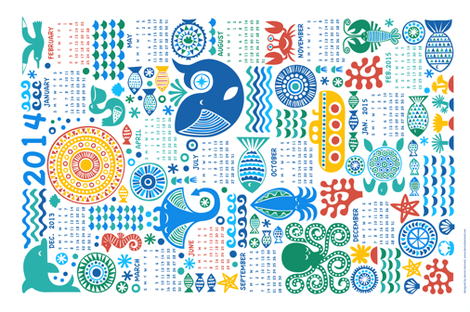 year under the sea fabric by dennisthebadger on Spoonflower - custom fabric