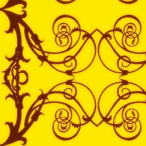 Art Nouveau6-brown/yellow