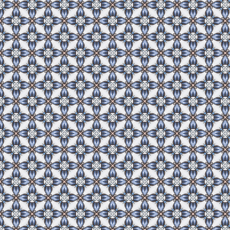 Kojiro's Blueflower Grid fabric by siya on Spoonflower - custom fabric