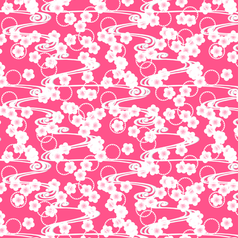 Chariklo Flow Pink fabric by siya on Spoonflower - custom fabric