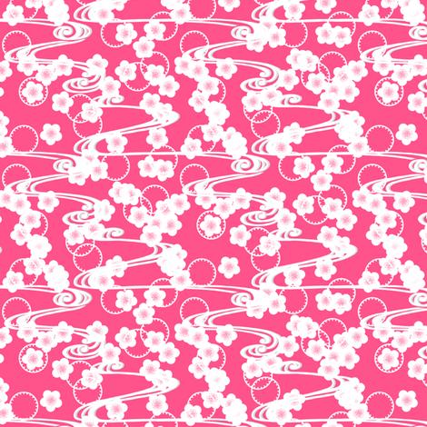 Chariklo Flow - Pink fabric by siya on Spoonflower - custom fabric