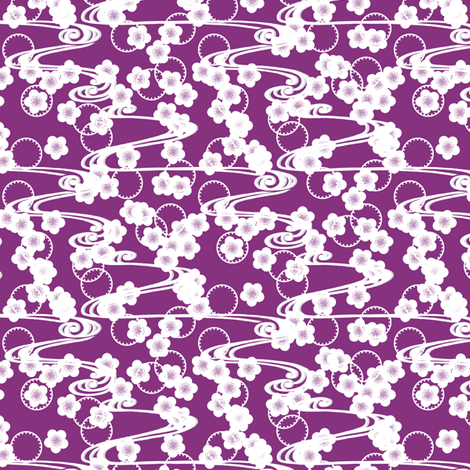 Chariklo Flow - Violet fabric by siya on Spoonflower - custom fabric