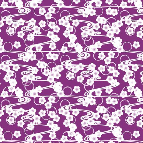 Chariklo Flow - Violet fabric by siya on Spoonflower - custom fabric