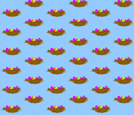 Easter Egg Backlash Flying Saucers fabric by susaninparis on Spoonflower - custom fabric