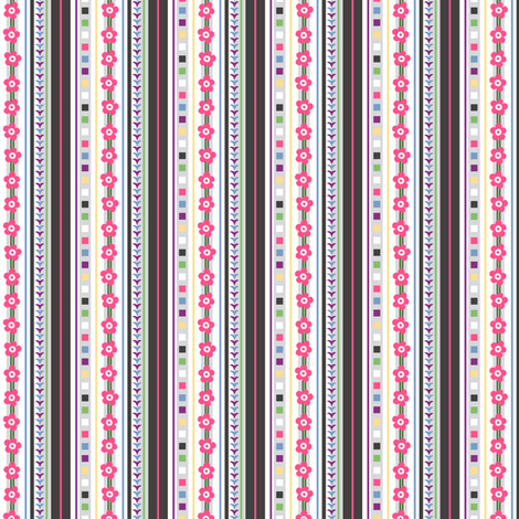 Chariklo Stripe fabric by siya on Spoonflower - custom fabric