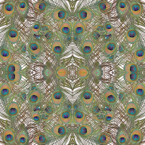 A kaleidoscope of peacock feathers, copyright Seasparkles Design Studio 2013
