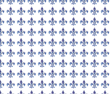 Hydrangea fleur di lis fabric by karenharveycox on Spoonflower - custom fabric