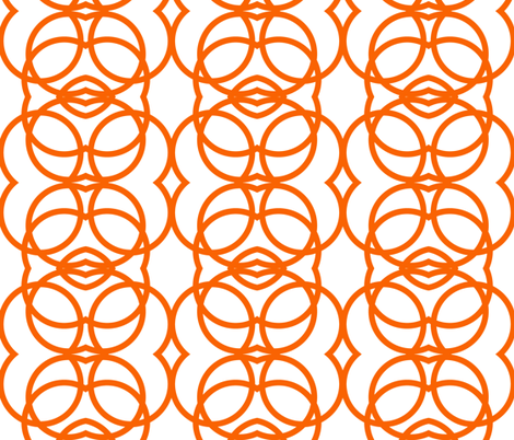 orange_circles fabric by holli_zollinger on Spoonflower - custom fabric