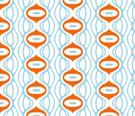 raining oranges and blues fabric by holli_zollinger on Spoonflower - custom fabric