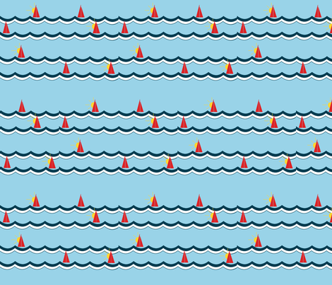 sunset seas fabric by megananne on Spoonflower - custom fabric
