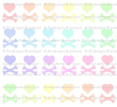 Heartskulls! - Pastel Rainbows  - © PinkSodaPop 4ComputerHeaven.com