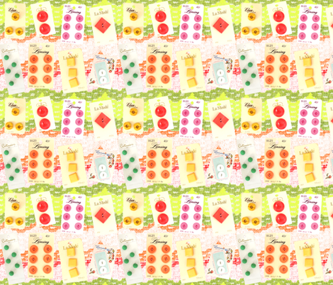 Vintage Seamstress Buttons fabric by vintagegreenlimited on Spoonflower - custom fabric