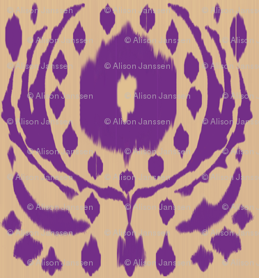 Ikat Flower - Purple