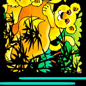 Lion Daddy and his Frisky Cubs