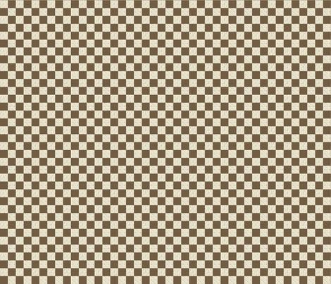 Sarah Wilson Brown Checks fabric by lana_gordon_rast_ on Spoonflower - custom fabric