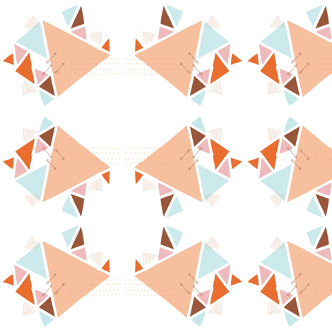 Triangle Arrow Print fabric by halehpashmak on Spoonflower - custom fabric
