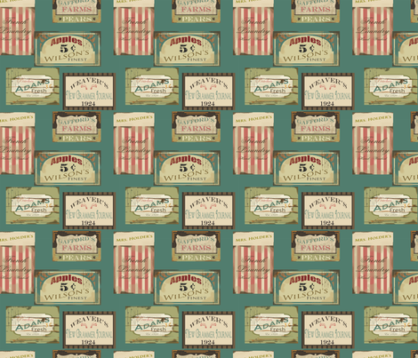 Sarah Wilson Signs fabric by ©_lana_gordon_rast_ on Spoonflower - custom fabric