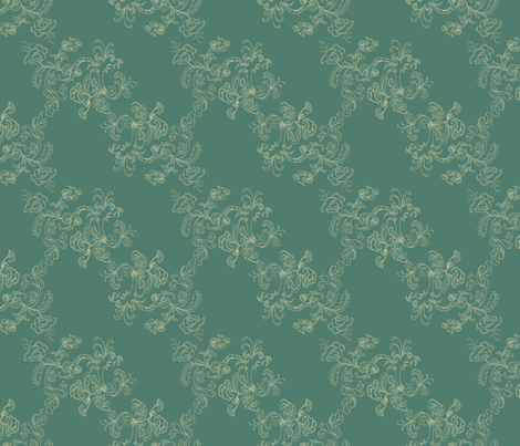 Sarah Wilson Toile Green fabric by lana_gordon_rast_ on Spoonflower - custom fabric