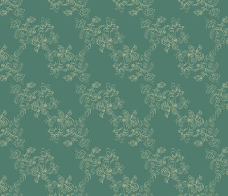 Sarah Wilson Toile Green fabric by lana_gordon_rast_ on Spoonflower - custom fabric