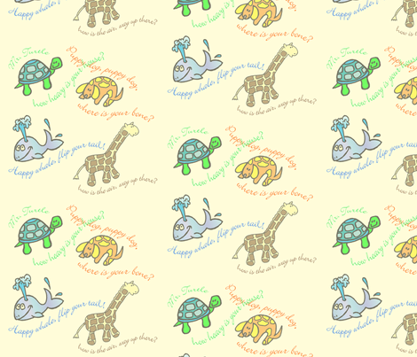 Baby Critters fabric by lfreud on Spoonflower - custom fabric