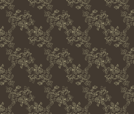 Sarah_Wilson_Toile_Brown fabric by ©_lana_gordon_rast_ on Spoonflower - custom fabric