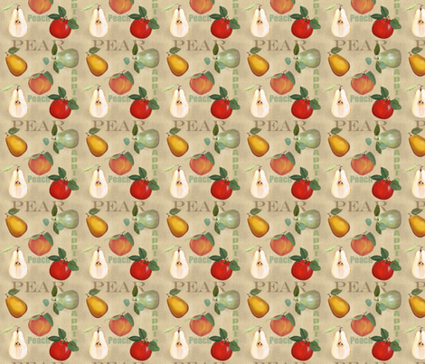Sarah Wilson Fruit fabric by lana_gordon_rast_ on Spoonflower - custom fabric