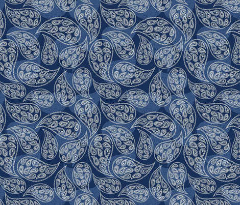 paisley style fabric by khandisha on Spoonflower - custom fabric