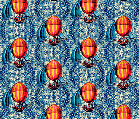 Sky Pirates fabric by whimzwhirled on Spoonflower - custom fabric