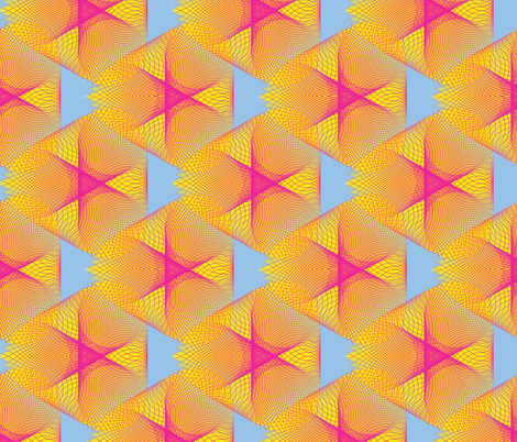 Yellow Spirogram fabric by dlhoward on Spoonflower - custom fabric