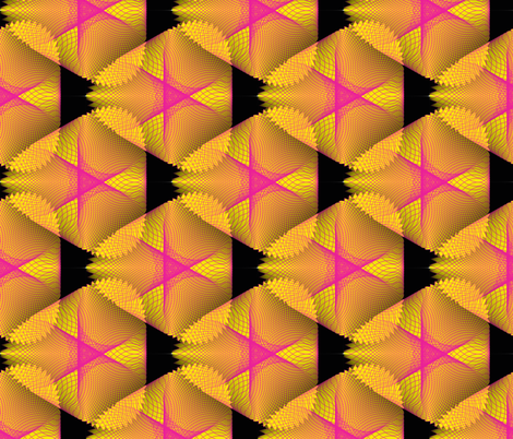 Yellow and Black Spirogram fabric by dlhoward on Spoonflower - custom fabric