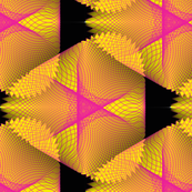Yellow and Black Spirogram