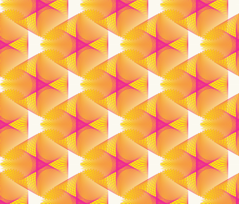 Yellow and White Spirogram fabric by dlhoward on Spoonflower - custom fabric