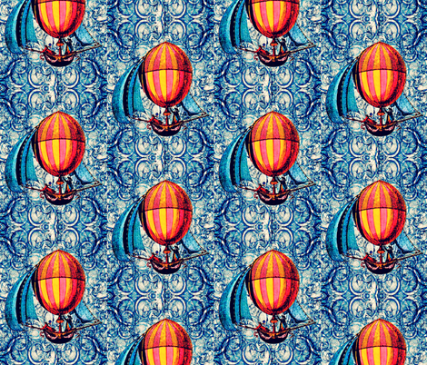Sky Pirates small fabric by whimzwhirled on Spoonflower - custom fabric