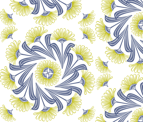 daisy_swirl fabric by antoniamanda on Spoonflower - custom fabric