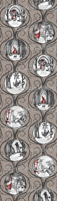 Little Red Riding Hood - warm grey