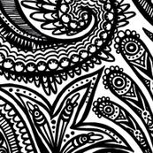 black and white zendoodle mandala