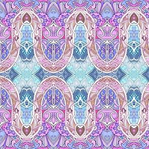 1913 to 2013 Mash Up Sine Wave Stripe (lavender)