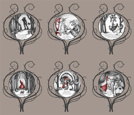 Little Red Riding Hood - panels fabric by thecalvarium on Spoonflower - custom fabric