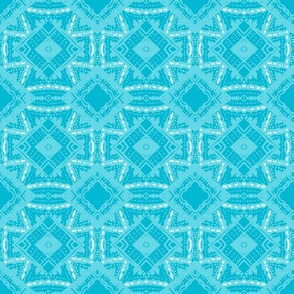 Vintage Tiki Diamond Pattern in Teal