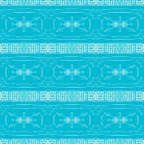 Vintage Tiki Teal Chain Pattern