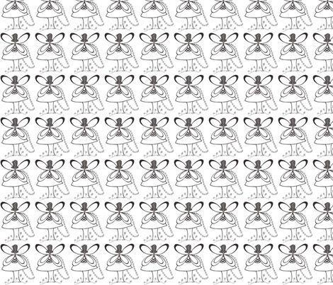 Pixie's Alibi White Fairy-Basic fabric by heatherhatadaboyd on Spoonflower - custom fabric