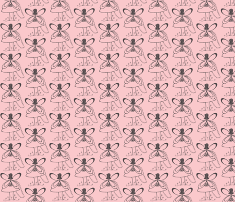 Pixie's Alibi Pink Fairy-Half Drop fabric by heatherhatadaboyd on Spoonflower - custom fabric