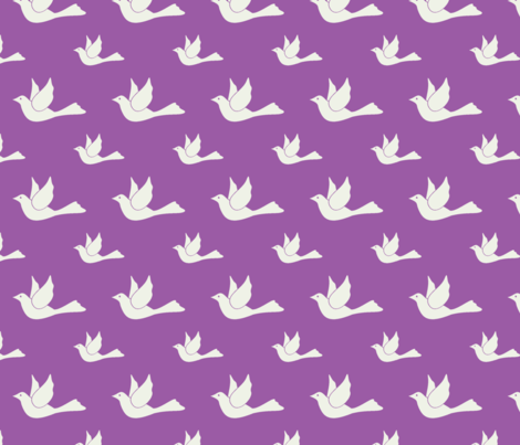 I dove you too! fabric by mezzime on Spoonflower - custom fabric