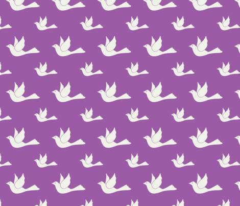 I dove you too! fabric by mezzime on Spoonflower - custom fabric
