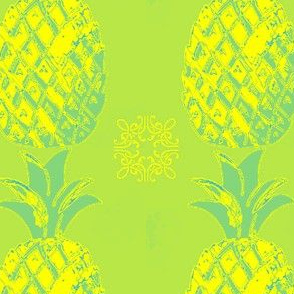 Welcome Pineapple-green