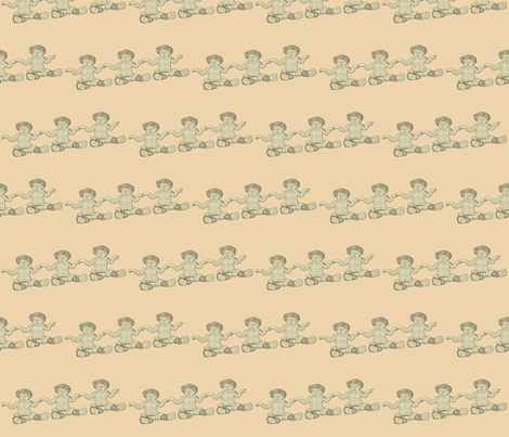 Nhh Levitating sepia fabric by nhh on Spoonflower - custom fabric